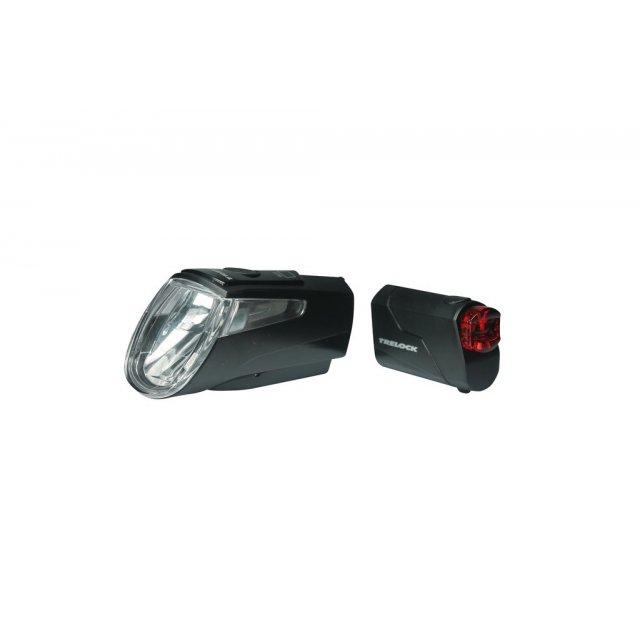 Halter schwarz Fahrrad Trelock Akku-LED-Leuchten Set I-go Power LS 460//720