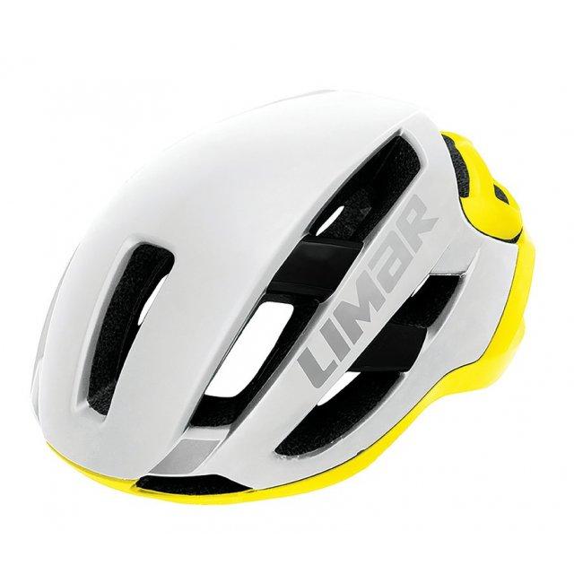 Limar Fahrrad Helm Fahrradhelm Air Master reflectiv mattweiß//gelb Gr.L 57-61cm