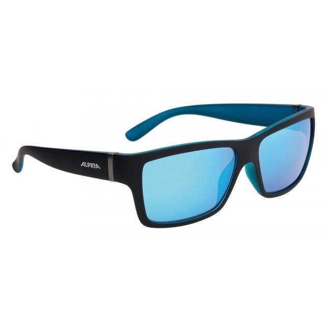 Alpina Sonnenbrille Flexxy Teen verspiegelt S3 Rahmen schwarz//cyan Glas blau